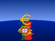 Euro signe portugais Images libres de droits
