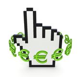 Euro signs around cursor. Stock Image