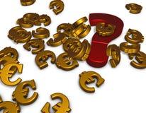 Euro simboli Fotografie Stock Libere da Diritti