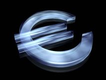 Euro simbolo Immagini Stock Libere da Diritti