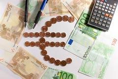 Euro simbolo Fotografia Stock Libera da Diritti