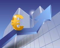 Euro simbolo Fotografie Stock Libere da Diritti