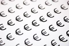 Euro simbolo dei soldi Fotografia Stock Libera da Diritti