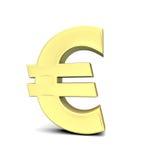 Euro simbolo di valuta Fotografie Stock Libere da Diritti