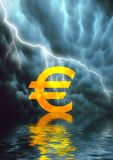 Euro- sinal Ilustração do Vetor