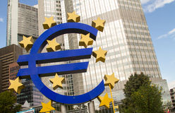 Euro- sinal Foto de Stock