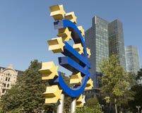 Euro- sinal Imagem de Stock