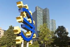 Euro- sinal Fotografia de Stock Royalty Free