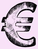 Euro- sinal Imagens de Stock Royalty Free
