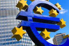 Euro- sinal Fotos de Stock