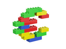 Euro- sinal de moeda que consiste em brinquedos das crianças Foto de Stock Royalty Free