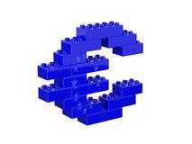 Euro- sinal de moeda que consiste em brinquedos das crianças Imagem de Stock