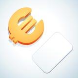 Euro- sinal e cartão Imagens de Stock Royalty Free