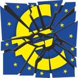 Euro- sinal quebrado ilustração stock