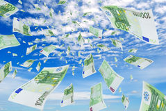 Euro in sky. Stock Image
