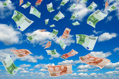 Euro in sky. Royalty Free Stock Image