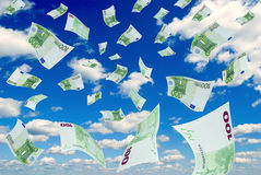 Euro in sky. Stock Photo