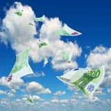 Euro in sky. Stock Photo