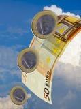 Euro slide Stock Photography