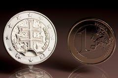 euro slovak Obrazy Stock