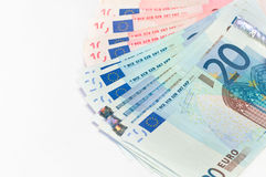 Euro small cash Stock Images