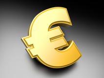 Euro Smybol. Euro money symbol. 3D rendered Illustration Stock Images