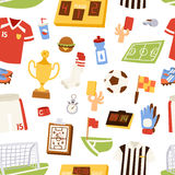 Euro soccer seamless pattern vector illustration. Royalty Free Stock Images