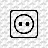 Euro socket icon stock vector illustration flat design Royalty Free Stock Images