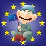 Euro soldat drôle Photos libres de droits