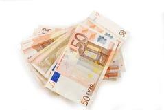 Euro soldi Fotografia Stock