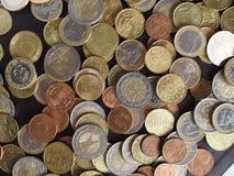 Euro soldi EUR delle monete immagini stock