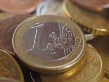 Euro soldi EUR delle monete fotografie stock libere da diritti