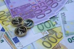 Euro soldi euro fondo dei contanti Euro banconote dei soldi Fotografia Stock Libera da Diritti