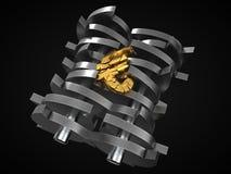 Euro som tappas i dokumentförstörare brexitkrisbegrepp illustration 3d vektor illustrationer