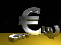 Euro in space Royalty Free Stock Photography