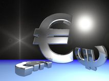 Euro in space Royalty Free Stock Photo