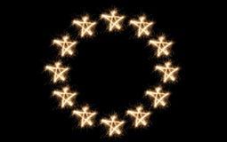 Euro- sparkler da bandeira de união fotografia de stock royalty free