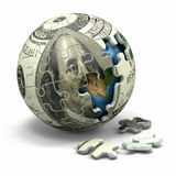 Euro sphere from puzzle. Conceptual image. Stock Photography