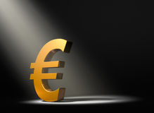 Euro In The Spotlight Stock Photo