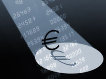 Euro in the spotlight Stock Photography