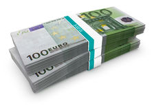 Euro Stack Royalty Free Stock Photos