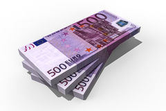 500 Euro stack. 3D render image of a stack of euro money Royalty Free Stock Photography