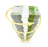 Euro stack Stock Photography