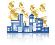 Euro stad Royalty-vrije Stock Foto's