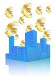 Euro stad Stock Afbeelding