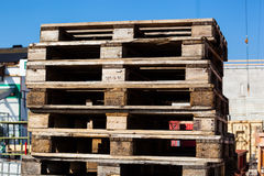 Euro standard pallets Royalty Free Stock Images