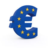 Euro with stars. Incrusted 3d render Stock Photos