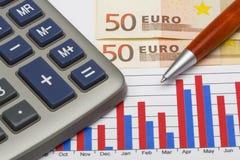 Euro statistique Photographie stock