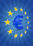 Euro stelle Immagini Stock Libere da Diritti