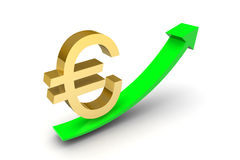 Euro Sterling Up Arrow Royalty Free Stock Photos